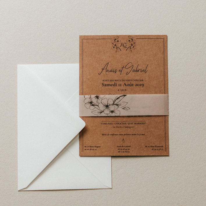 Faire_part_Anais_Gabriel_CartePrincipal_enveloppe_kraft